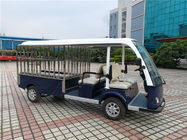 High Performance Electric Luggage Cart For Tourist Resorts 4 Seaters + 2 Rows