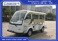 White Hospital Electric Tourist Car 18% Climbing Ability 28km/H Max Speed