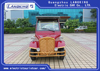 Small Electric Vintage Cars 48V/5KW AC System Sponge + Artificial Leather Seats