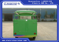 Elegant Green Electric Luggage Cart Industrial Utility Vehicles With Fencing