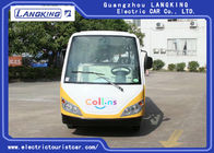 14 Person 4 Wheels Electric Tourist Car For Resorts ,Villas , City Walking Street