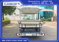 Electric shuttle bus 23 seats 9V/15KW AC motor Amusement Park Or Campus Electric Tourist Car Recharge Time 8~10h