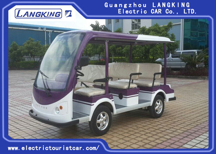 Eight Seater Electric Passenger Bus , Electric Sightseeing Car Eco Friendly