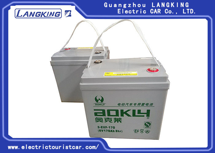 Steel Club Car Golf Buggy Parts Maintenance dry Battery 6V 170AH For Shuttle Bus