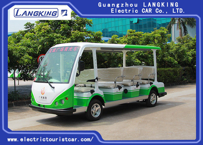 Four Wheel 11 Seats Electric Passenger Vehicle With Small Cargo 72volt / 7.5kw Ac Motor